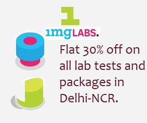 Get Flat 30% off on all lab tests and packages on 1mglabs.com