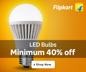 LED  bulbs minimum 40% off