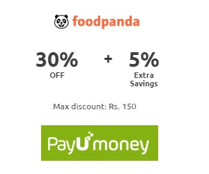 Get 5% extra savings on Foodpanda pay through PayU Money